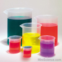 Plastic Beakers Set of 6