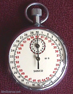 Analog Stop Watch, 15 Minutes